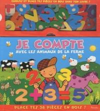 Lemememonde.fr Je compte avec les animaux de la ferme - Place tes 38 pièces en bois Image