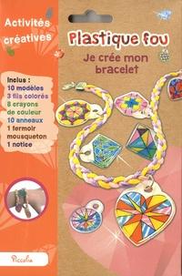 Piccolia - Je crée mon bracelet - Avec 10 modèles, 3 fils colorés, 8 crayons de couleur, 10 anneaux, 1 fermoir mousqueton, 1 notice.