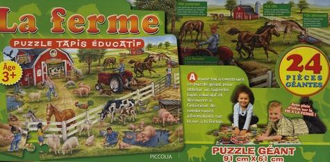 Piccolia - La ferme - Puzzle, tapis éducatif.