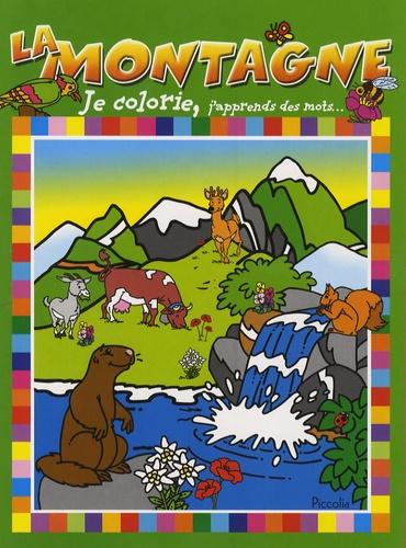 Piccolia - La montagne - Je colorie, j'apprends des mots.