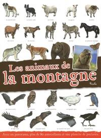 Piccolia - Les animaux de la montagne - Avec un panorama, plus de 80 autocollants et une planche de pochoirs.