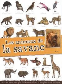 Piccolia - Les animaux de la savane - Avec un panorama, plus de 80 autocollants et une planche de pochoirs.
