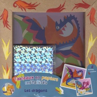 Piccolia - Les dragons - Tableaux en papiers métallisés.