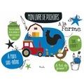 Piccolia - Mon livre de pochoirs : à la ferme.