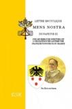"""Pie XI Pape - Lettre encyclique """"Mens Nostra""""."""