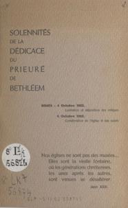 Pierre Afflatet - Solennités de la dédicace du prieuré de Bethléem.