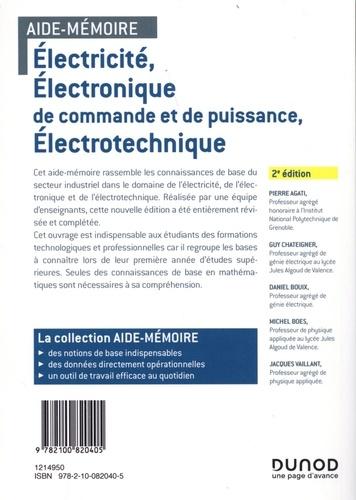 Electricité, électronique de commande et de puissance, électrotechnique 2e édition