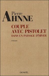 Pierre Ahnne - Couple avec pistolet dans un paysage d'hiver.