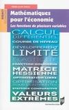 Pierre-Alain Guillo - Mathématiques pour l'économie - Les fonctions de plusieurs variables.