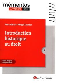 Pierre Allorant et Philippe Tanchoux - Introduction historique au droit.