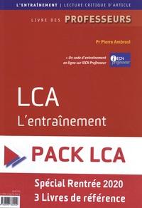 Pierre Ambrosi et Pascaline Faure - Pack LCA : LCA L'entraînement ; LCA en anglais ; LCA - UE 12 - 3 volumes.