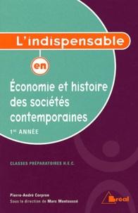 Pierre-André Corpron - Economie et histoire des sociétés contemporaines 1e année HEC.