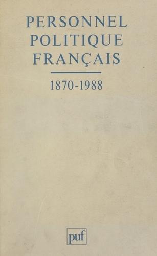 Personnel politique français, 1870-1988