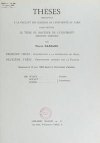 Pierre Bariand - Contribution à la minéralogie de l'Iran - Thèse présentée à la Faculté des sciences de l'Université de Paris pour obtenir le titre de Docteur de l'université (mention sciences), soutenues le 15 juin 1962. Suivie des propositions données par la Faculté : Les gisements diamantifères de l'URSS.