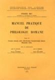 Pierre Bec - Manuel pratique de philologie romane - Tome 2, Français, roumain, sarde, rhéto-frioulan, francoprovençal, dalmate.