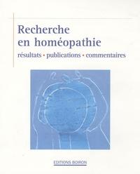 Recherche en homéopathie - Résultats, publications, commentaires.pdf