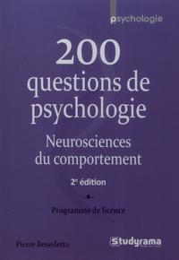 Pierre Benedetto - 200 questions de psychologie - Neurosciences du comportement.