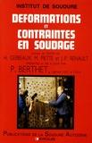 Pierre Berthet - Déformations et contraintes en soudage.