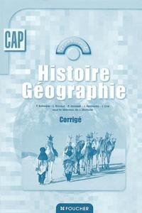 Histoire Géographie- Corrigé - Pierre Boissiere |