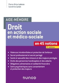 Pierre-Brice Lebrun et Sandrine Laran - Le droit en action sociale et médico-sociale.
