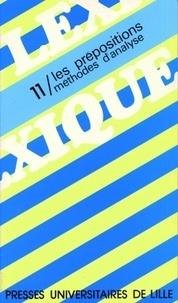 Pierre Cadiot - Les prépositions, méthodes d'analyse.