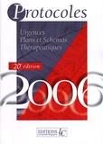 Pierre Carli - Protocoles et Surveillances en 2 volumes - Médecine générale Plans et schémas thérapeutiques ; Urgences Plans et schémas thérapeutiques, édition 2006.