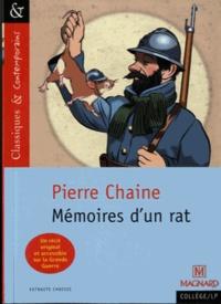 Téléchargement gratuit pour les ebooks sur mobile Mémoires d'un rat  - Suivi des Commentaires de Ferdinand, ancien rat des tranchées 9782210743489 par Pierre Chaine