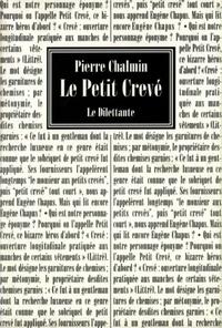 Pierre Chalmin - Le petit crevé.