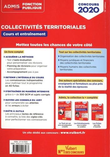 Collectivités territoriales, Cours et entraînements. Concours et examens professionnels - Catégories A, B et C  Edition 2020