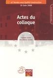 Pierre Chemillier - La qualité de la construction en Europe - 10e Rendez-vous Qualité Construction, 19 juin 2008, 2 volumes.