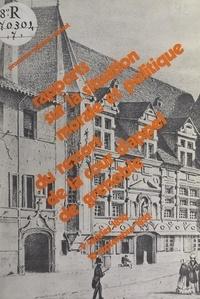 Pierre Chevallier et Marie-josé Couailhac - Rapports sur la situation morale et politique du ressort de la Cour d'appel de Grenoble : 9 janvier 1850-10 septembre 1852.