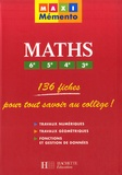 Pierre Curel et Josyane Curel - Maths 6e, 5e, 4e, 3e.