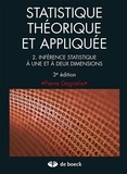 Pierre Dagnelie - Statistique théorique et appliquée - Tome 2, Inférence statistique à une et à deux dimensions.