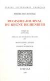 Pierre de L'Estoile - Registre-journal du règne de Henri III - Tome 3 (1579-1581).