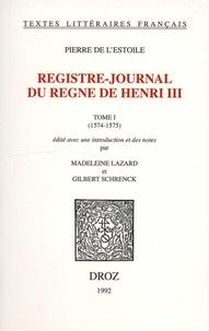 Accentsonline.fr Registre-journal du règne de Henri III - Tome 1 (1574-1575) Image
