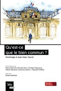 Pierre Delvolvé et Bernard Stirn - Qu'est-ce que le bien commun ? - Hommage à Jean-Marc Sauvé.