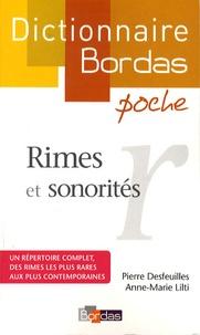 Pierre Desfeuilles et Anne-Marie Lilti - Rimes et sonorités.