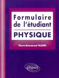 Pierre-Emmanuel Hladik - Formulaire de l'étudiant - Physique.