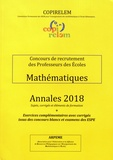 Pierre Eysseric et Agnès Batton - Mathématiques Concours de recrutement des professeurs des écoles - Annales 2018 + exercices complémentaires avec corrigés issus des concours blancs et examens des ESPE.