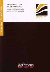 Accentsonline.fr Classique-jazz de La Fontaine - Swing de La Fontaine, volume 2 - Compositions pour choeur à voix mixtes et trio jazz sur des fables de La Fontaine Image