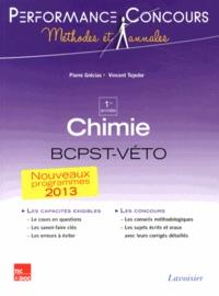 Pierre Grécias et Vincent Tejedor - Chimie 1re année BCPST-Véto.