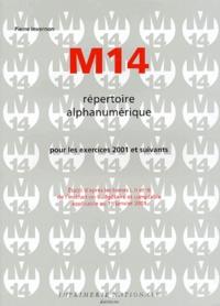 Histoiresdenlire.be Répertoire alphanumérique M14. Pour les exercices 2001 et suivants Image