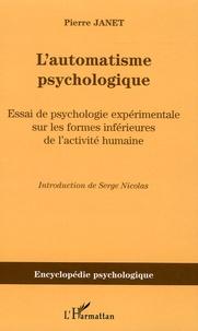 Lautomatisme psychologique - Essai de psychologie expérimentale sur les formes inférieures de lactivité humaine (1889).pdf