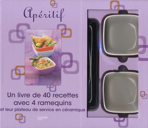 Pierre-Jean Furet - Coffret Apéritif - Un livre de 40 recettes avec 4 ramequins et leur plateau de service en céramique.