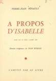 Pierre-Jean Pénault et André Gide - À propos d'Isabelle.