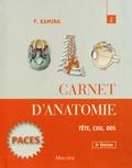Pierre Kamina et Cyrille Martinet - Carnet d'anatomie - Tome 2, Tête, cou, dos.