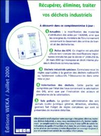 Deedr.fr Récupérer, éliminer, traiter vos déchets industriels. Compléments et mise à jour de juillet 2000 Image