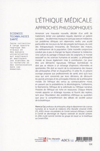 L'éthique médicale. Approches philosophiques