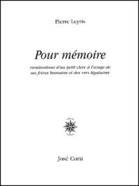 Pierre Leyris - .