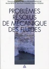 Problèmes résolus de mécanique des fluides avec rappel de cours - Ecoulements incompressibles dans les circuits, canaux et rivières, autour de structures et dans lenvironnement.pdf